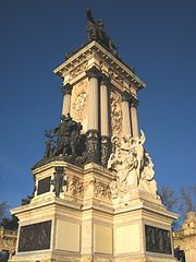 Monument to Alfonso XII of Spain, Madrid - tower 1.JPG