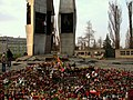 Monument to the Fallen Shipyard Workers of 1970 in Gdańsk after president's plane crash 2010 - 02.jpg