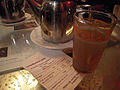 Moroccan food and drink - mint tea in Casablanca Cafe (5368133960).jpg
