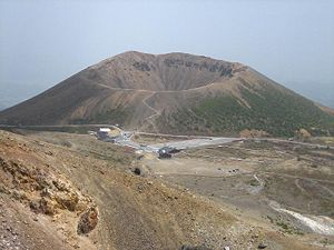 Mount Azuma-kofuji - Kofuji Crater of Azuma Volcano