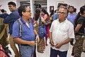 Mrinal Pal Discussing with Tarak Sengupta - 43rd PAD Group Exhibition - Kolkata 2017-06-20 0178.JPG