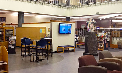 Picture of Montana State University Library First Floor and Brewed Awakening Coffee Shop