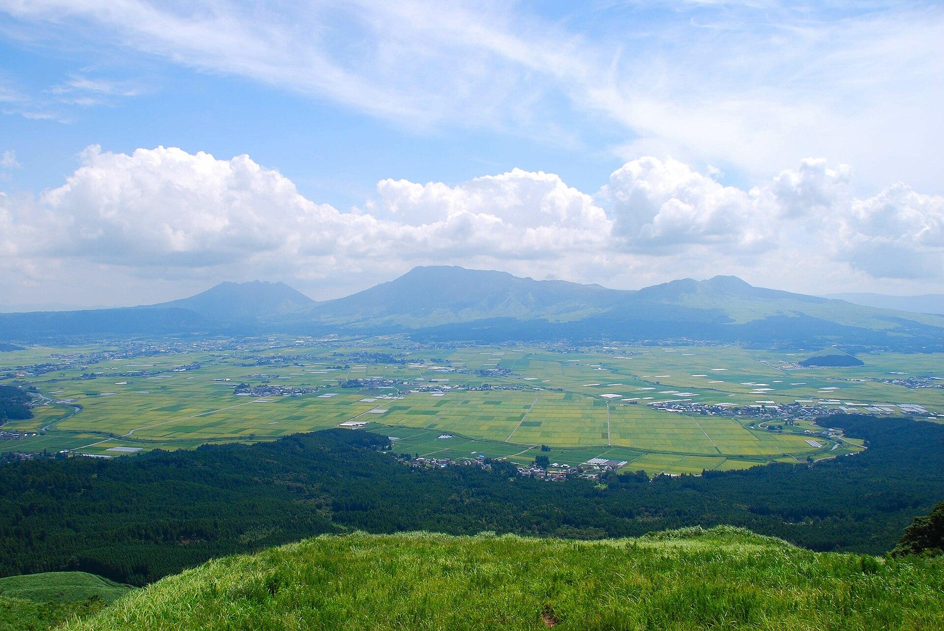 大観峰から見た阿蘇五岳
