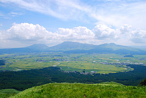 History of Kumamoto Prefecture - Mount Aso and Aso Caldera from Daikanbou