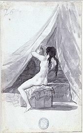 Un desnudo (1796-1797) del Álbum de Madrid (o Álbum B).