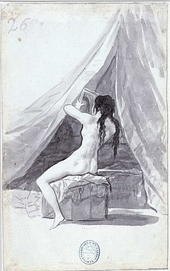 Mujer desnuda con un espejo (Goya)