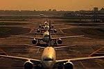 Mumbai Airport Takeoff Queue.jpg