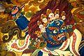 Murales dentro del Great Drigung Kagyud Lotus Stupa - Lumbini, Nepal (8513914722).jpg