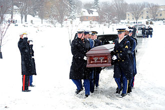 John Murtha - A joint service honor guard bearing the casket of John P. Murtha; Johnstown Pennsylvania, February 16, 2010