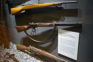 Felipe Ángeles - Winchester rifle that belongs to the general Genovevo de la O and gave as a gift to Felipe Ángeles. Toma de Zacatecas museum, Zacatecas.