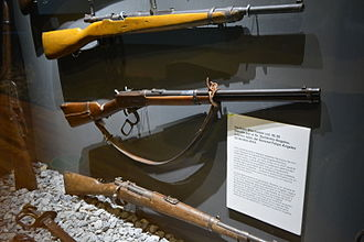 Felipe Ángeles - Winchester rifle that belongs to the general Genovevo de la O and gave as a gift to Felipe Ángeles. Toma de Zacatecas museum, Zacatecas.