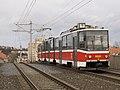 Nádraží Braník, Tatra KT8D5, zezadu.jpg
