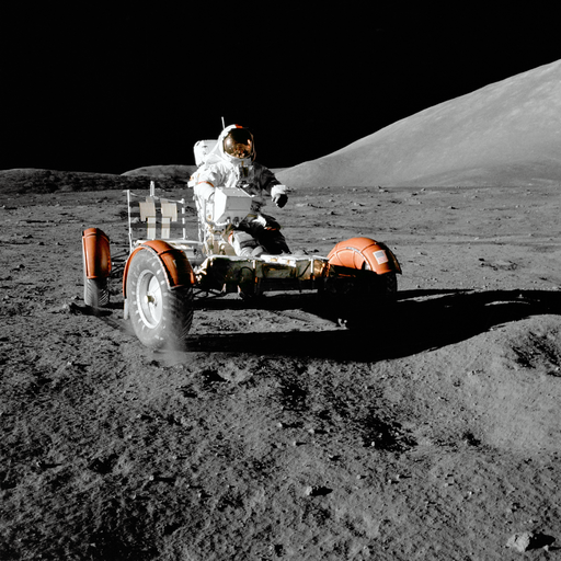 NASA Apollo 17 Lunar Roving Vehicle edit 1
