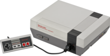 Nintendo Entertainment System with controller