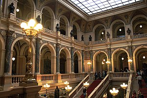 Interior on National Museum in Prague