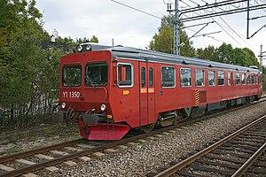 Bratsberg Line - Diesel Y1 railcar at Skien Station.
