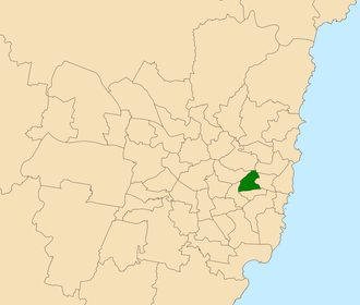 Electoral district of Balmain - Location within Sydney