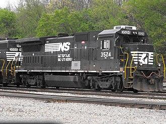 GE Dash 8 Series - An NS B32-8 at Hinman Yard.