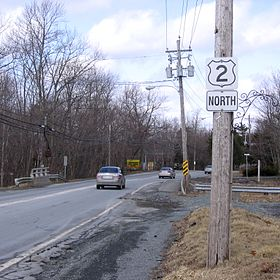 La route 2 à Fall River