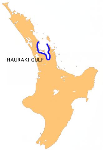 Hauraki Gulf - Location of the Hauraki Gulf.