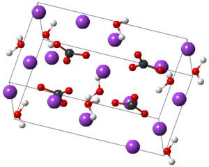 Sodium carbonate - Structure of monohydrate at 346 K.
