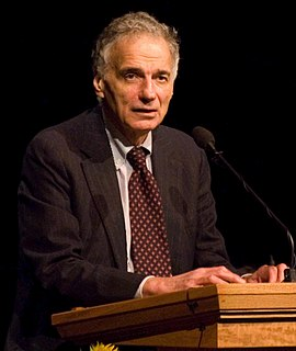 Ralph Nader American consumer rights activist and corporate critic