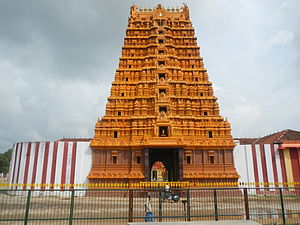 Nallur Kandaswamy temple - Newly built gopuram at the southern side
