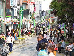 Nampo-dong - Main street in Nampo-dong