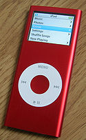 (PRODUCT)RED 4 or 8G iPod nano.