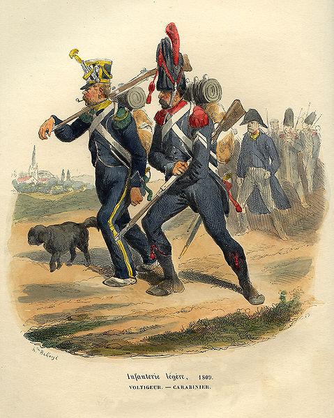 File:Napoleon Voltigeur and Carabinier by Bellange.jpg