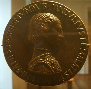 Pandolfo III Malatesta - Medal of Pandolfo Malatesta (recto), Pisanello, National Gallery of Art, Washington D.C.