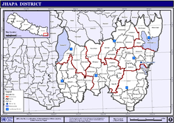 Jhapa District Map