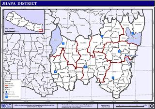 Bahundangi Village development committee in Mechi Zone, Nepal