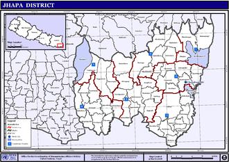 Jhapa District - Jhapa District Map