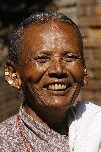 Smile - A Nepali Newar woman smiling