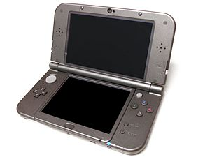 New Nintendo 3DS - New Nintendo 3DS XL in metallic black.