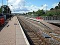 New Cumnock railway station, East Ayrshire, Scotland. View towards Auchinleck & Kilmarnock.jpg