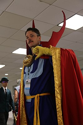 Cosplayer Dr. Strange tijdens New York Comic Con 2014