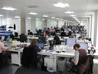 Back office - Back office workers at a company in London