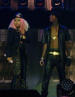 Nicki Minaj - Minaj with Tyga on the Pink Friday: Reloaded Tour at The O2 Arena in London (October 30, 2012)