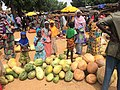 Niger, Boubon (15), weekly market with girls and pumpkins.jpg