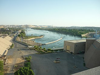 Mott MacDonald - View of the Nile River from the Aswan Low Dam in Egypt.