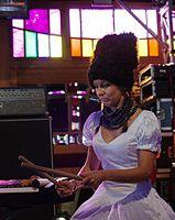 Nina Garenetska (DakhaBrakha) (Haldern Pop 2013) IMGP6626 smial wp.jpg
