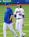 Noah Syndergaard and Jacob deGrom on July 25, 2015.jpg