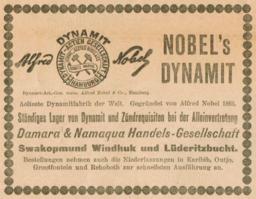 NobelsDynamitDeutschSuedwestZeitung10Nov1906