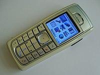A Silver Nokia 6230