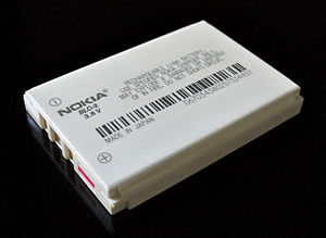English: Nokia Li-ion Battery.