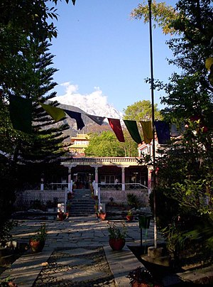 Norbulingka Institute - Norbulingka Institute, with Dhauladhar range in the background.