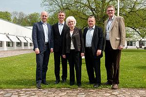 Matti Vanhanen - The Nordic prime ministers meeting in Denmark, 2010. From left to right: Fredrik Reinfeldt (Sweden), Jens Stoltenberg (Norway), Jóhanna Sigurðardóttir (Iceland), Lars Løkke Rasmussen (Denmark), Matti Vanhanen (Finland).