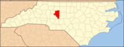 North Carolina Map Highlighting Davidson County.PNG